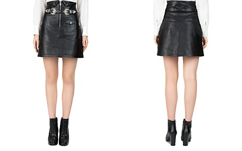 The Kooples High-Waisted Leather Skirt - Bloomingdale's_2