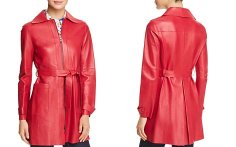 Emporio Armani Belted Leather Jacket - Bloomingdale's_2
