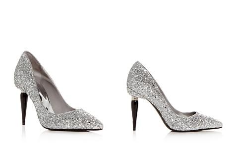 Oscar de la Renta Women's Mariacarla Glitter Paintbrush Heel Pumps - Bloomingdale's_2