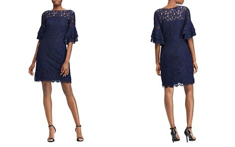 Lauren Ralph Lauren Petites Bell-Sleeve Lace Dress - Bloomingdale's_2