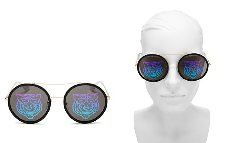 Gucci Women's Tiger Round Mirrored Sunglasses, 56mm - Bloomingdale's_2