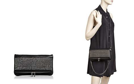 Zadig & Voltaire Rock Spike Leather Crossbody Clutch - Bloomingdale's_2