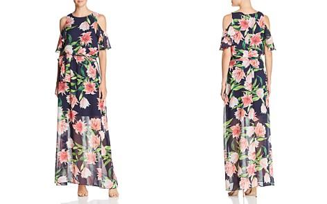 Eliza J Floral Cold-Shoulder Gown - Bloomingdale's_2