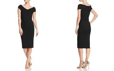 MICHAEL Michael Kors Ribbed Crossover-Collar Dress - Bloomingdale's_2