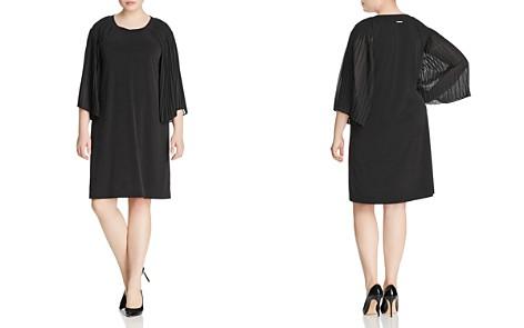MICHAEL Michael Kors Plus Mixed-Media Pleat-Sleeve Dress - Bloomingdale's_2