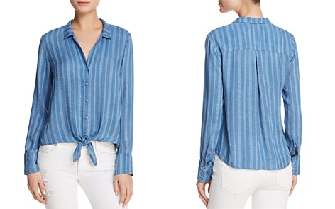 Bella Dahl Striped Tie-Front Button-Down Shirt - Bloomingdale's_2