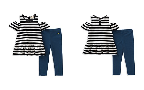 kate spade new york Girls' Striped Cold-Shoulder Top & Leggings Set - Baby - Bloomingdale's_2
