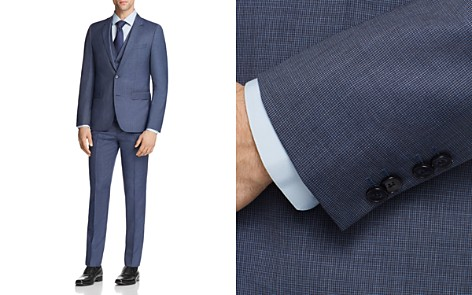 HUGO Astian/Hets Slim Fit Tonal Micro Check 3-Piece Suit - Bloomingdale's_2