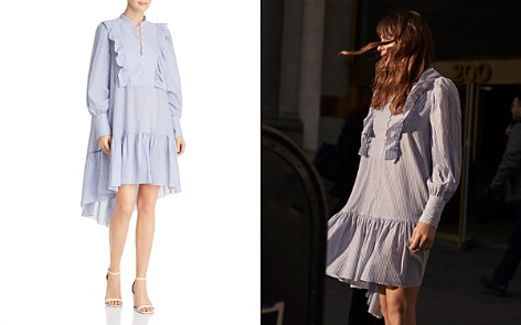 BCBGMAXAZRIA Joanna Ruffled High/Low Tent Dress - 100% Exclusive - Bloomingdale's_2