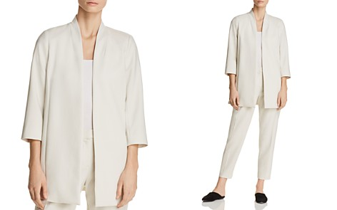 Eileen Fisher Petites Long Open-Front Jacket - Bloomingdale's_2