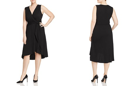 B Collection by Bobeau Curvy Rowan Faux-Wrap Dress - 100% Exclusive - Bloomingdale's_2