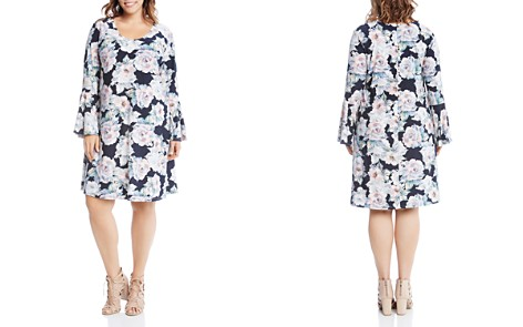 Karen Kane Plus Taylor Floral Print Bell Sleeve Dress - Bloomingdale's_2