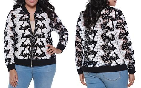 Belldini Sheer Floral Crochet Bomber Jacket - 100% Exclusive - Bloomingdale's_2
