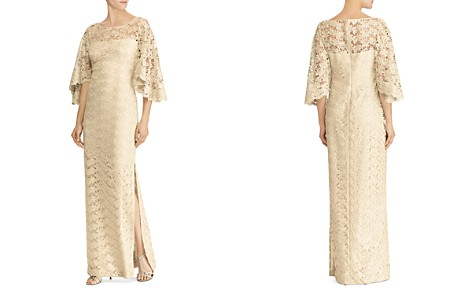 Lauren Ralph Lauren Flutter-Sleeve Lace Gown - 100% Exclusive - Bloomingdale's_2