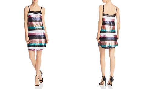 AQUA Sequined Striped Dress - 100% Exclusive - Bloomingdale's_2