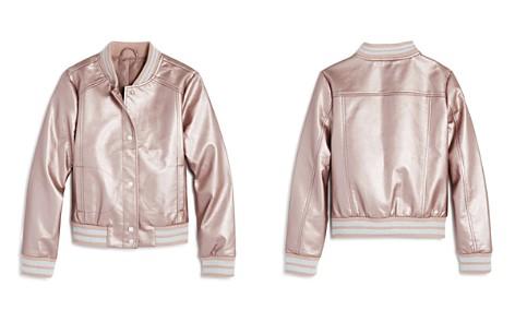 AQUA Girls' Metallic Faux-Leather Bomber Jacket, Big Kid - 100% Exclusive - Bloomingdale's_2