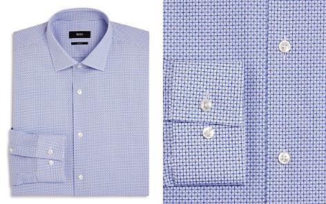 BOSS Dobby Open-Check Slim Fit Dress Shirt - Bloomingdale's_2