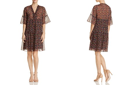 Gerard Darel Douce Micro Floral Print Dress - 100% Exclusive - Bloomingdale's_2