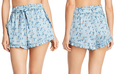 For Love & Lemons Spring Bloom Ruffle Shorts - Bloomingdale's_2