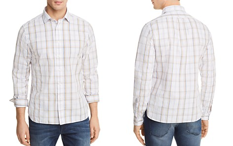 The Men's Store at Bloomingdale's Plaid Long Sleeve Button-Down Shirt_2