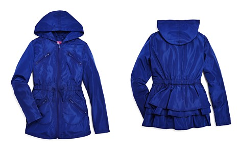 AQUA Girls' Ruffled Rain Jacket, Big Kid - 100% Exclusive - Bloomingdale's_2