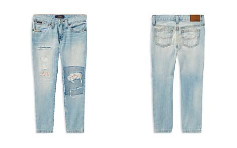 Polo Ralph Lauren Girls' Floral-Patch Slim-Fit Boyfriend Jeans - Big Kid - Bloomingdale's_2