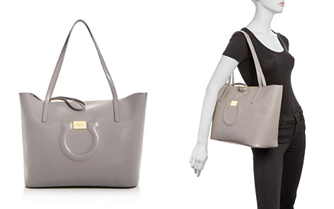 Salvatore Ferragamo Gancini City Leather Tote - Bloomingdale's_2