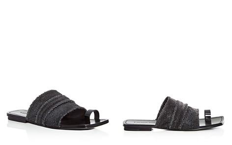 Sigerson Morrison Women's Abbe Textured Patent Leather Slide Sandals - Bloomingdale's_2