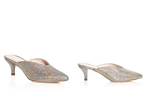 Loeffler Randall Women's Juno Glitter Stripe Kitten Heel Mules - Bloomingdale's_2