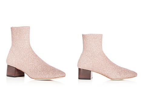 Loeffler Randall Women's Carter Glitter Knit Block Heel Booties - Bloomingdale's_2