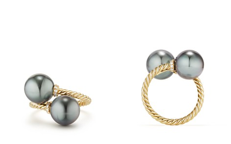 David Yurman Solari Bypass Ring with Diamonds & Cultured Tahitian Gray Pearls in 18K Gold - Bloomingdale's_2