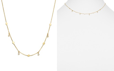 "Zoë Chicco 14K Yellow Gold Itty Bitty Dangling Diamond Choker Charm Necklace, 14"" - Bloomingdale's_2"