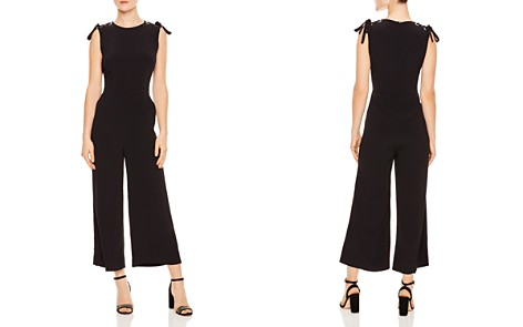 Sandro Ermeline Lace-Up Shoulder Wide-Leg Jumpsuit - Bloomingdale's_2