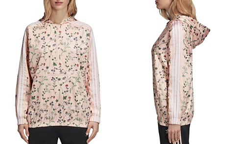adidas Originals Floral Print Windbreaker Jacket - Bloomingdale's_2