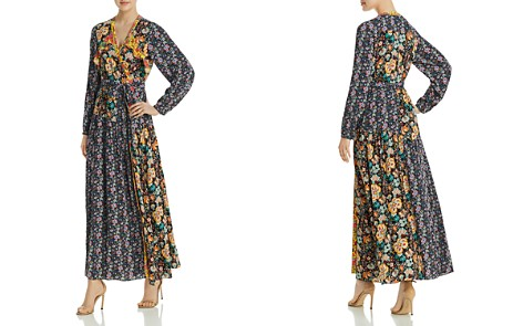 FRAME Mixed-Floral Maxi Wrap Dress - Bloomingdale's_2