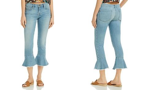 FRAME Le Skinny De Jeanne Flounce Raw-Edge Jeans in Limerstone - Bloomingdale's_2