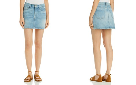 FRAME Le Denim Mini Skirt - Bloomingdale's_2
