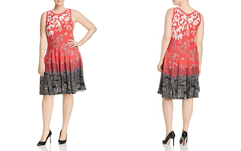 NIC+ZOE Plus Terrace Twirl Mixed-Print Dress - Bloomingdale's_2