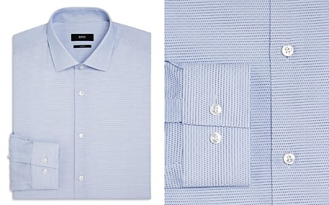 BOSS Micro Dash Slim Fit Dress Shirt - Bloomingdale's_2