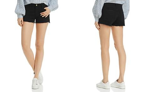 FRAME Le Cutoff Denim Shorts in Noir Rookley - Bloomingdale's_2