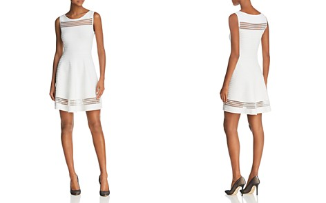 FRENCH CONNECTION Tobey Mesh-Inset Dress - Bloomingdale's_2