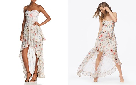 AQUA Floral Strapless High/Low Maxi Dress - 100% Exclusive - Bloomingdale's_2