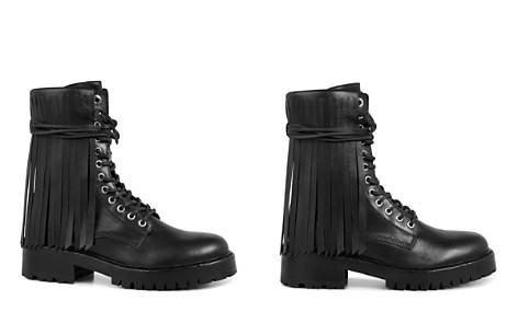 ALLSAINTS Women's Piper Leather Fringe Combat Booties - Bloomingdale's_2