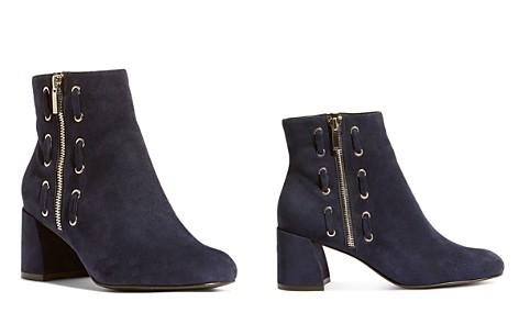 KAREN MILLEN Women's Suede Double Zip Block Heel Booties - Bloomingdale's_2