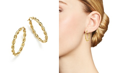 Bloomingdale's Round Twisted Hoop Earrings in 14K Yellow Gold - 100% Exclusive _2