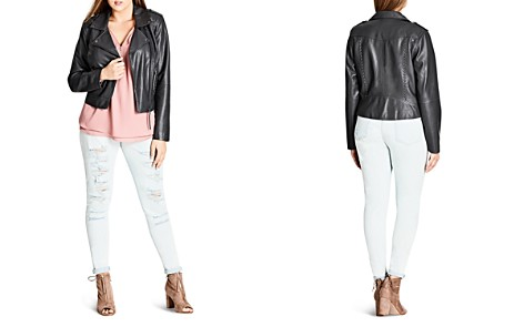 City Chic Whipstich Faux-Leather Biker Jacket - Bloomingdale's_2