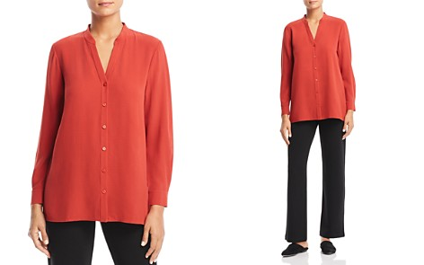 Eileen Fisher Petites Silk Top - Bloomingdale's_2