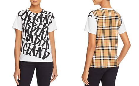 Burberry Cimarron Graphic-Print Plaid-Back Tee - Bloomingdale's_2