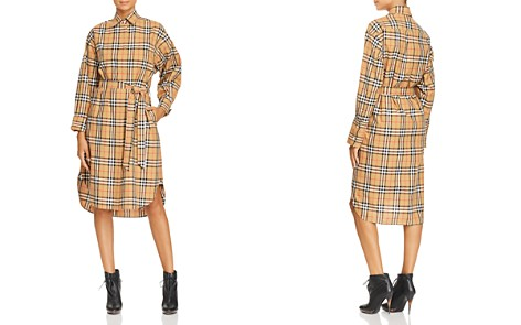 Burberry Isotto Plaid Shirt Dress - Bloomingdale's_2
