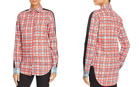 Burberry Saoirse Plaid Button-Down Top - Bloomingdale's_2
